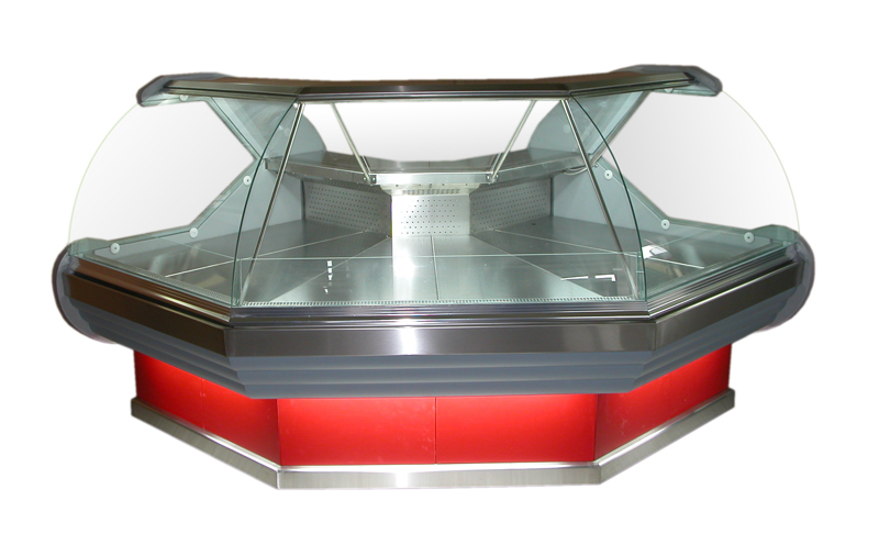 Refrigerated Counter Display Case for Cheese and Meats / Αngular