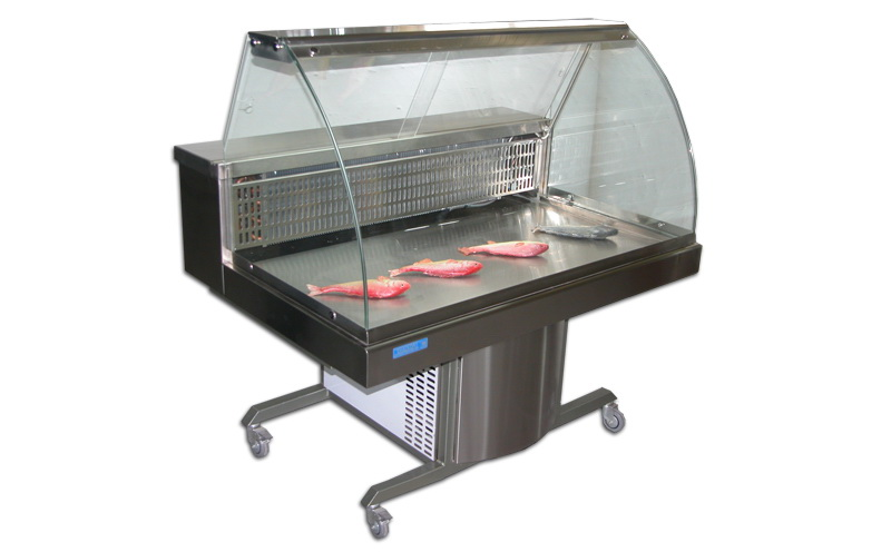 Refrigerated Counter Display Case for Fishes