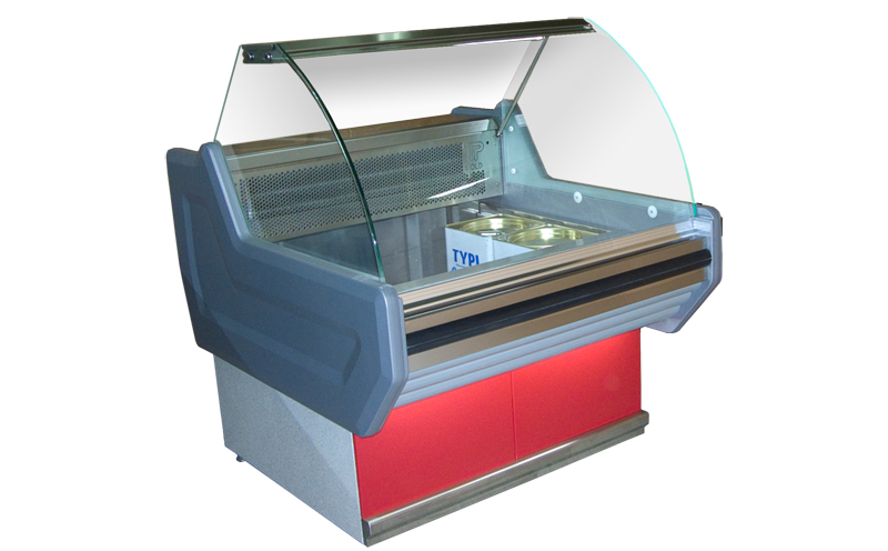 Refrigerated Counter Display Case for Cheese Containers/Barels