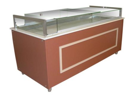 Refrigerated counter display case / PANORAMIC